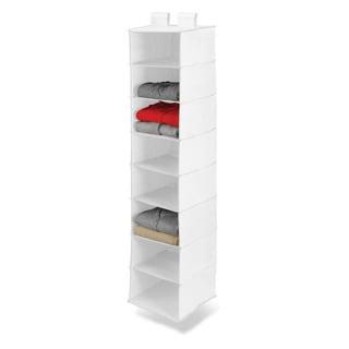 8 shelf hanging organizer, polyester, white