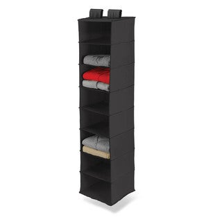 8 shelf hanging organizer, polyester, black