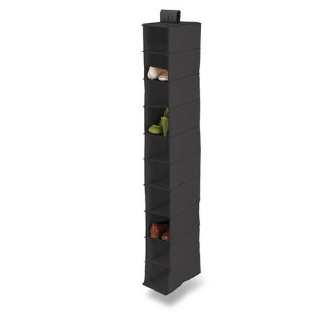 Honey-Can-Do 10-shelf Black Polyester Hanging Shoe Organizer