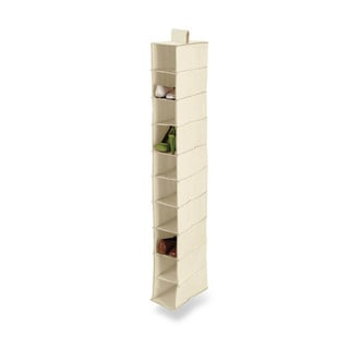 10-shelf hanging shoe organizer, natural tc