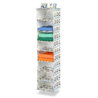 8 shelf hanging organizer (brown/green)