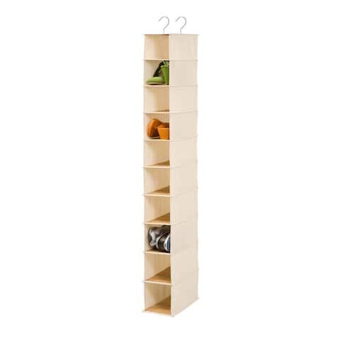 Honey-Can-Do 10-Shelf Shoe Organizer - Bamboo/natural