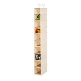 Honey-Can-Do 10-Shelf Shoe Organizer - Bamboo/natural