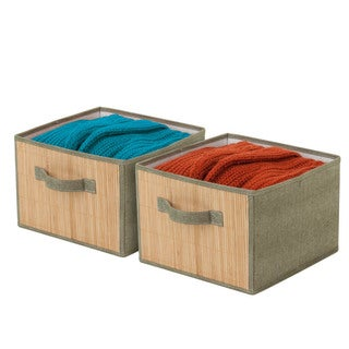 2-pack storage drawers Bamboo/moss