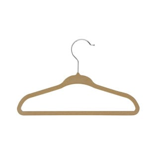 Honey-Can-Do Tan Kids Velvet Touch Hangers (60-pack)