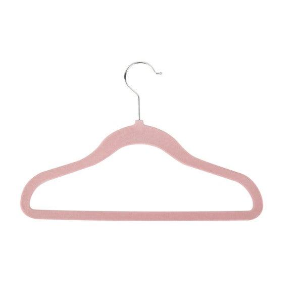Honey-Can-Do Pink Kids Velvet Touch Hangers (60-pack)