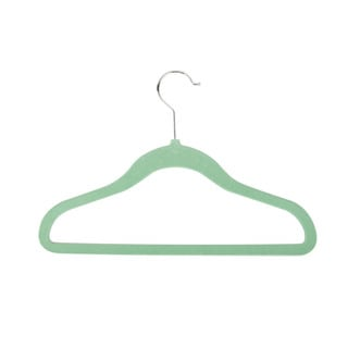 Honey-Can-Do Green Kids Velvet Touch Hangers (60-pack)
