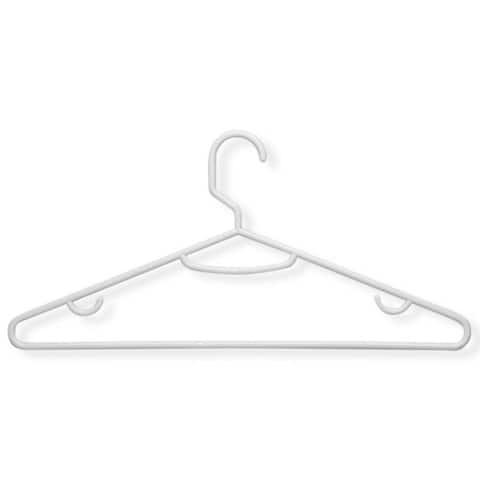 Honey-Can-Do Recycled White Lightweight Tubular Hangers (60-pack)