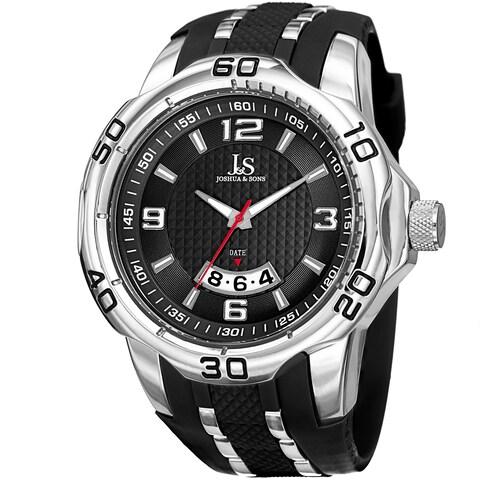 Joshua & Sons Men's Swiss Quartz Diamond Date Strap Watch