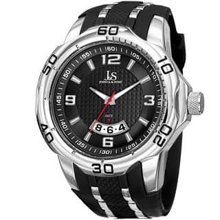Joshua & Sons Men's Swiss Quartz Diamond Date Strap Watch with FREE GIFT|https://ak1.ostkcdn.com/images/products/10755271/P17808962.jpg?impolicy=medium
