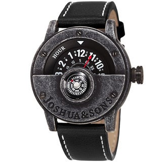 Joshua & Sons Men's Quartz Rotating Wheel Leather Black Strap Watch with FREE GIFT https://ak1.ostkcdn.com/images/products/10755273/P17808971.jpg?_ostk_perf_=percv&impolicy=medium