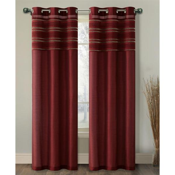 Shop Vcny Wakefield Lined Chenille And Faux Silk Curtain
