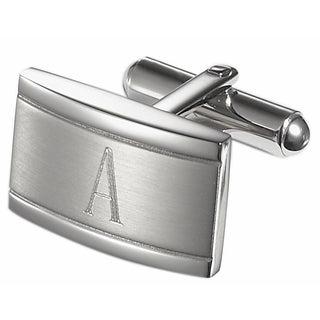 Visol Taurus Brushed Stainless Steel Cufflinks