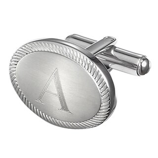 Visol Ovale Personalized Stainless Steel Cufflinks