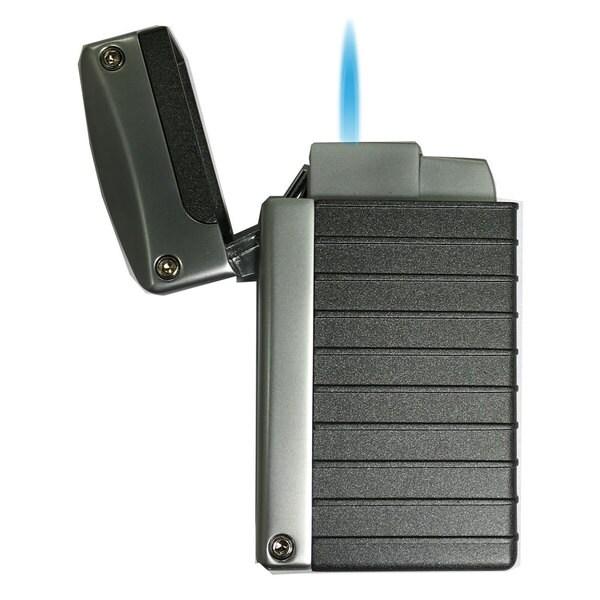 Visol Norfolk Black Matte Torch Flame Lighter