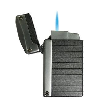 Visol Norfolk Charcoal Grey Matte Torch Flame Lighter