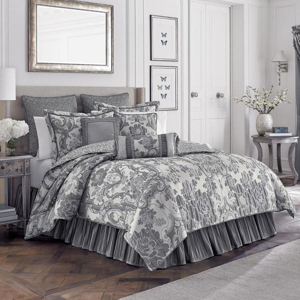 croscill everly ivory and platinum 4 comforter set