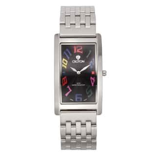 Croton Men's CN307533SSBK Stainless Steel Silvertone Rectangular Watch|https://ak1.ostkcdn.com/images/products/10755358/P17809046.jpg?impolicy=medium