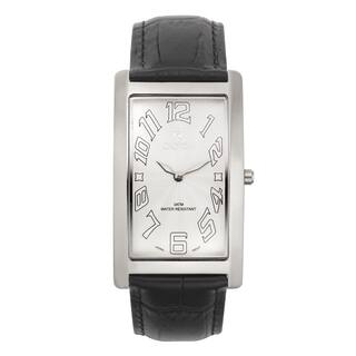 Croton Men's CN307533BSWH Stainless Steel White White Rectangular Watch|https://ak1.ostkcdn.com/images/products/10755360/P17809048.jpg?impolicy=medium