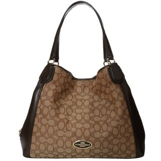 Coach Edie 31 Signature Shoulder Hobo Handbag
