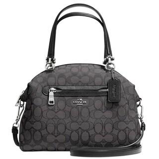 Coach Prairie Black Signature Satchel Handbag