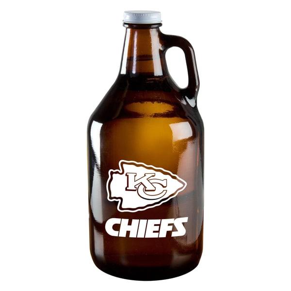 Kansas City Chiefs 64-Ounce Amber Glass Growler
