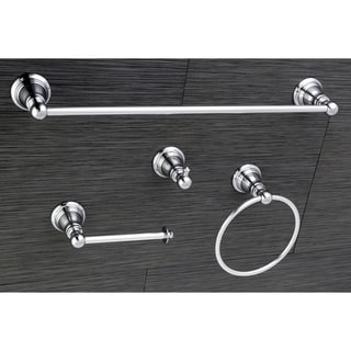 Link to Classic Polished Chrome 4-piece Bathroom Accessory Set - Silver Similar Items in Bath