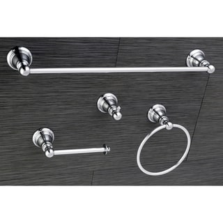 Classic Polished Chrome 4-piece Bathroom Accessory Set