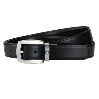 Montblanc Men's Gold-coated Revolving Convex Reversible Belt