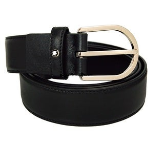 Montblanc Men's Horseshoe Classic Line Belt (Option: Black)