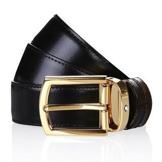 Montblanc Classic Line Men's Reversible Leather Belt