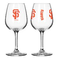 San Francisco Giants 12-ounce Wine Glass Set