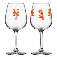 New York Mets 12-ounce Wine Glass Set