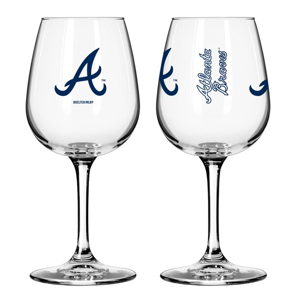 Atlanta Braves 12-ounce Wine Glass Set