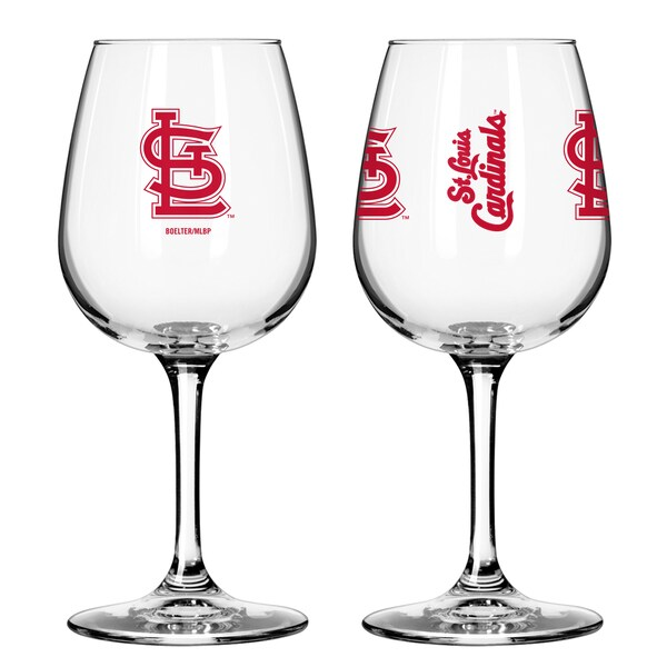 St. Louis Cardinals 12-ounce Wine Glass Set