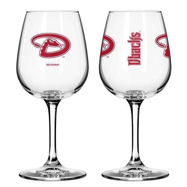 Arizona Diamondbacks 12-ounce Wine Glass Set