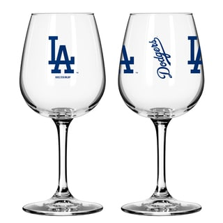 Los Angeles Dodgers 12-ounce Wine Glass Set