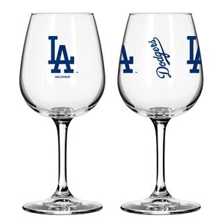 Los Angeles Dodgers 12-ounce Wine Glass Set