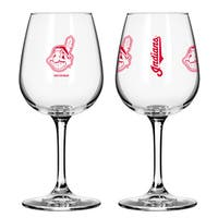 Cleveland Indians 12-ounce Wine Glass Set