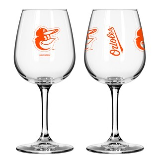 Baltimore Orioles 12-ounce Wine Glass Set