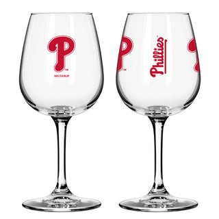 Philadelphia Phillies 12-ounce Wine Glass Set