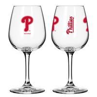 Philadelphia Phillies 12-ounce Wine Glass Set