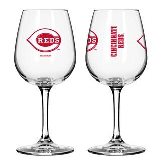 Cincinnati Reds 12-ounce Wine Glass Set