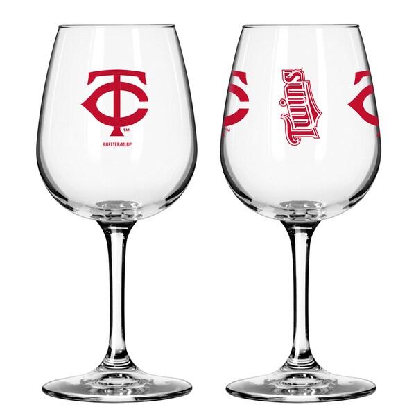 Minnesota Twins 12-ounce Wine Glass Set