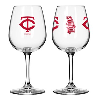 Minnesota Twins 12-ounce Wine Glass Set (Option: Minnesota Twins)
