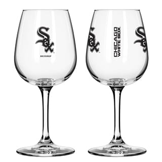 Chicago White Sox 12-ounce Wine Glass Set