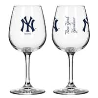 New York Yankees 12-ounce Wine Glass Set