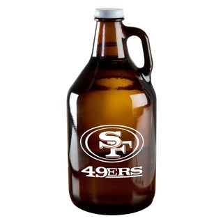 San Francisco 49ers 64-Ounce Amber Glass Growler