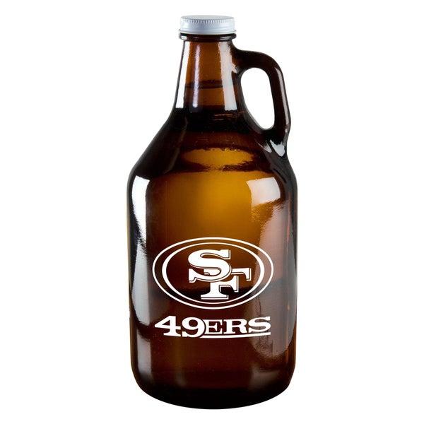 San Francisco 49ers 64-Ounce Amber Glass Growler