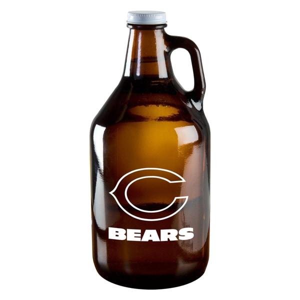 Chicago Bears 64-Ounce Amber Glass Growler
